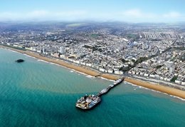 Aerial picture of Brighton and Brighton Pier