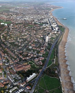 Aerial view of Eastbourne
