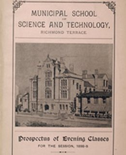Brochure for new Municipal School of Science and Technology, 1897