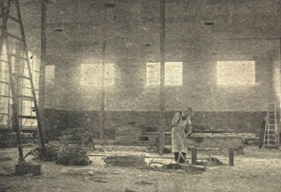 Interior of building under construction, 1949