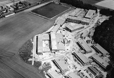 Aerial view of Falmer campus, 1965