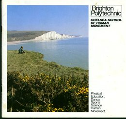 Cover of brochure for Chelsea School of Movement, 1979