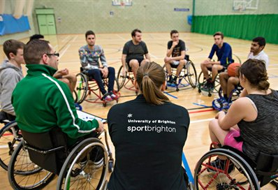 Sport Brighton wheelchair basketball
