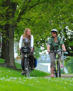 Cyclists in the park