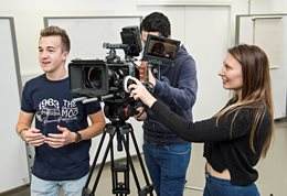 Digital film and TV students recording