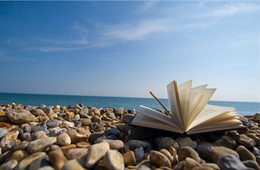 Book on beach