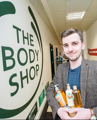 Student on placement with The Body Shop