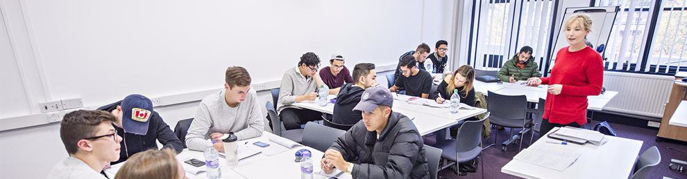 Economic students being taught in class