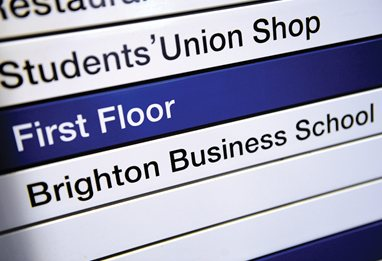 Brighton Business School sign