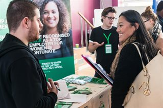 University of Brighton students at placement fair