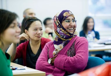business school students