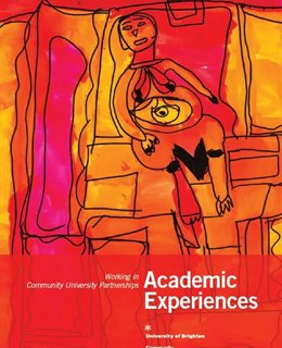 Front cover featuring an abstracted drawing of a woman, in reds and yellows
