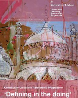Front cover featuring a colourful drawing of the Royal Pavilion