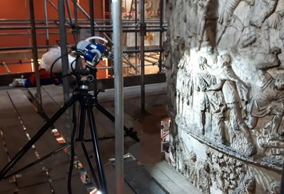 3D scanning of V&A Trajan Column plaster cast