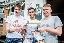 Participants in the Active Student Santander funded volunteering project at The Bevy in Moulsecoomb