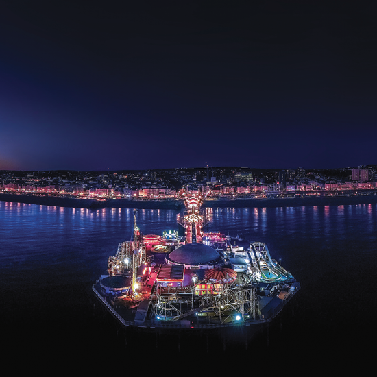 Image of Brighton Pier at night
