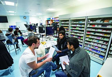 Students in a pharmacy