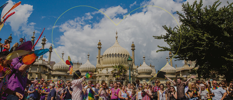 Brighton Pavilion at LGBT Pride