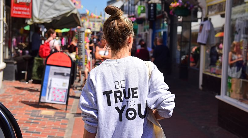 Be True student walking in Brighton