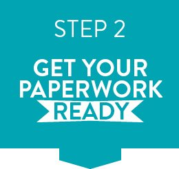 Graphic telling you to get your paperwork ready before you apply through clearing