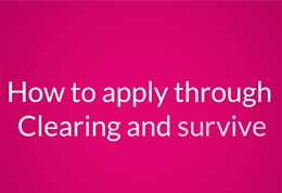 How to apply through UCAS Clearing