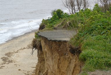 Coastal erosion in Suffolk