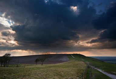 Image of a moody day over the South Downs