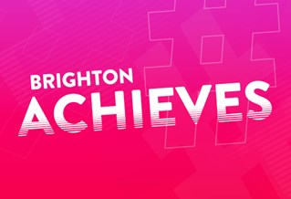Graphic with the text Brighton Achieves