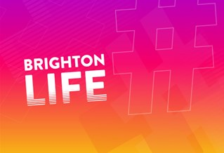 Graphic with the text Brighton Life