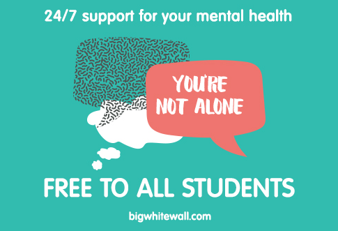 Big White Wall mental health poster