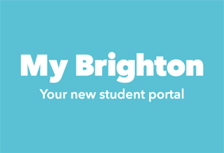 Graphic with the text 'My Brighton - your new student portal'
