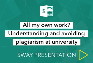 Sway presenation logo with words All my own work