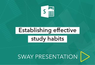 Sway presenation logo with words Effective study habits