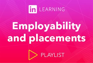 LindedIn Learning logo with words Employability and placements