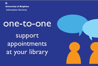 graphic image with the words 'one-to-one support appointments at your library'