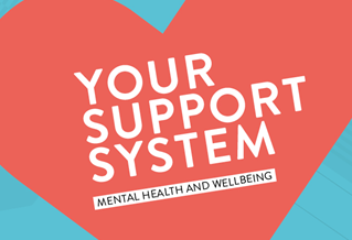 Graphic image with the words Your Support System