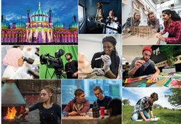 Cover of the undergraduate 2018 prospectus (a collage of images)
