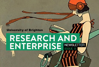 Cover of issue 9, Research and Enterprise newsletter, with feature of 1920s magazine history conference