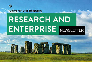 Image of Stonehenge and words Research and Enterprise