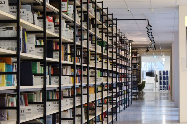 Shelves of research in the design archives