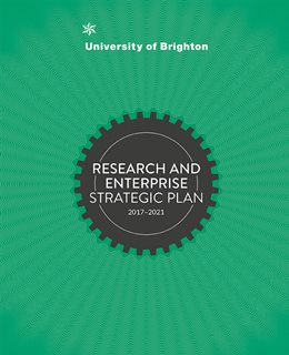 Cover image of the Research and Enterprise Strategic Plan document