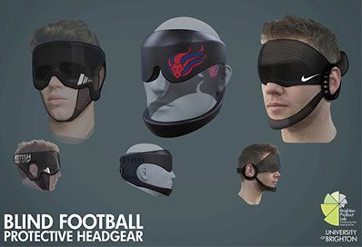Blind-football-headgear