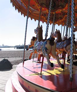 Merry-go-round-on-seafront
