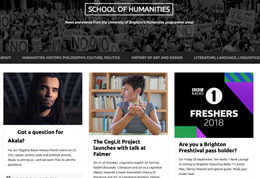 Screengrab of the Humanities blog home page