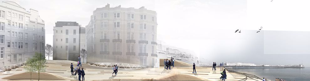 Student work: composite photo of buildings by Brighton seafront