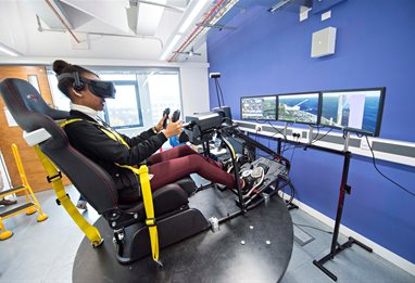 Student in simulator