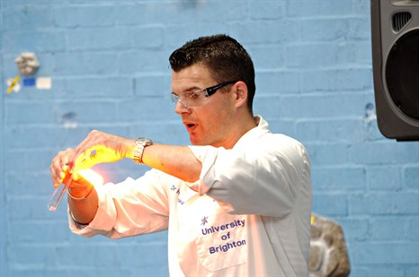 Big Bang chemistry demonstration with Dr Hal Sosabowski