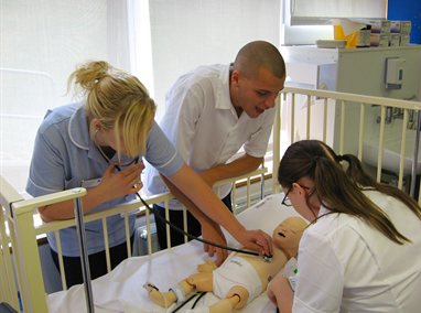 Child nursing students