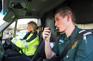 Paramedics on an emergency call