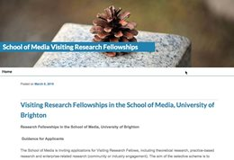 Visiting research fellowships blog
